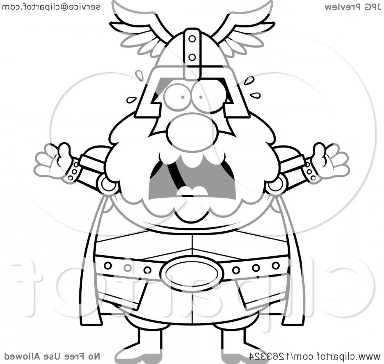 Thor Vector Black: Black And White Cartoon Scared Screaming Chubby Thor