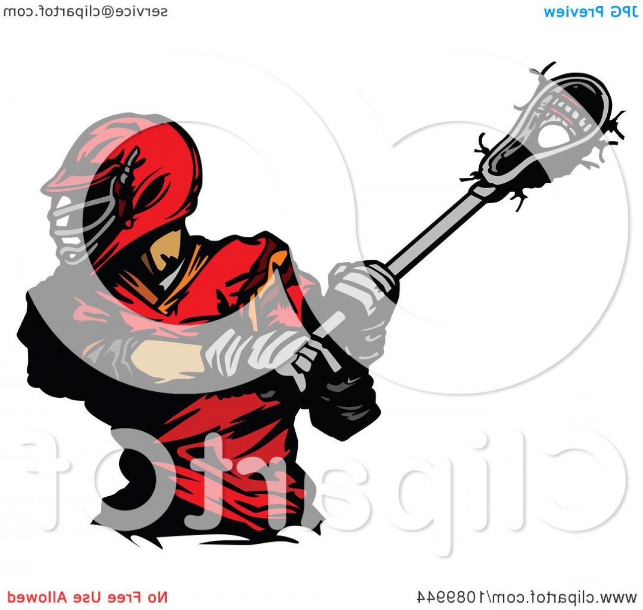 Lacrosse Stick Vector: Black And White Crossed Lacrosse Sticks Over Wings