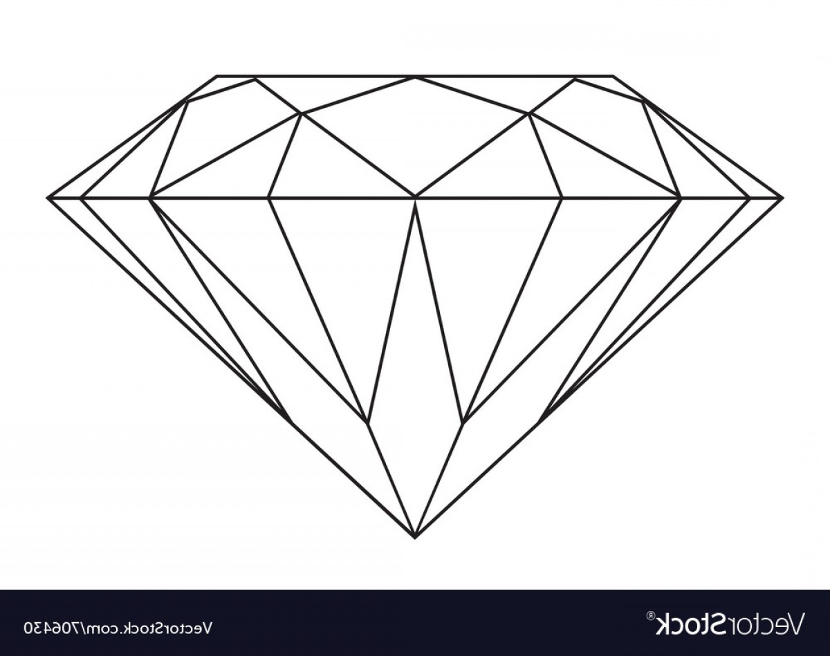 Black Diamond Vector Clip Art: Black And White Diamond Vector