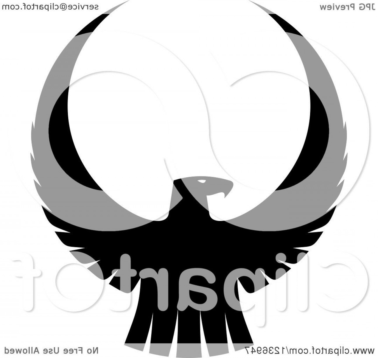 Falcon Silhouette Vector: Black And White Eagle Falcon Or Hawk