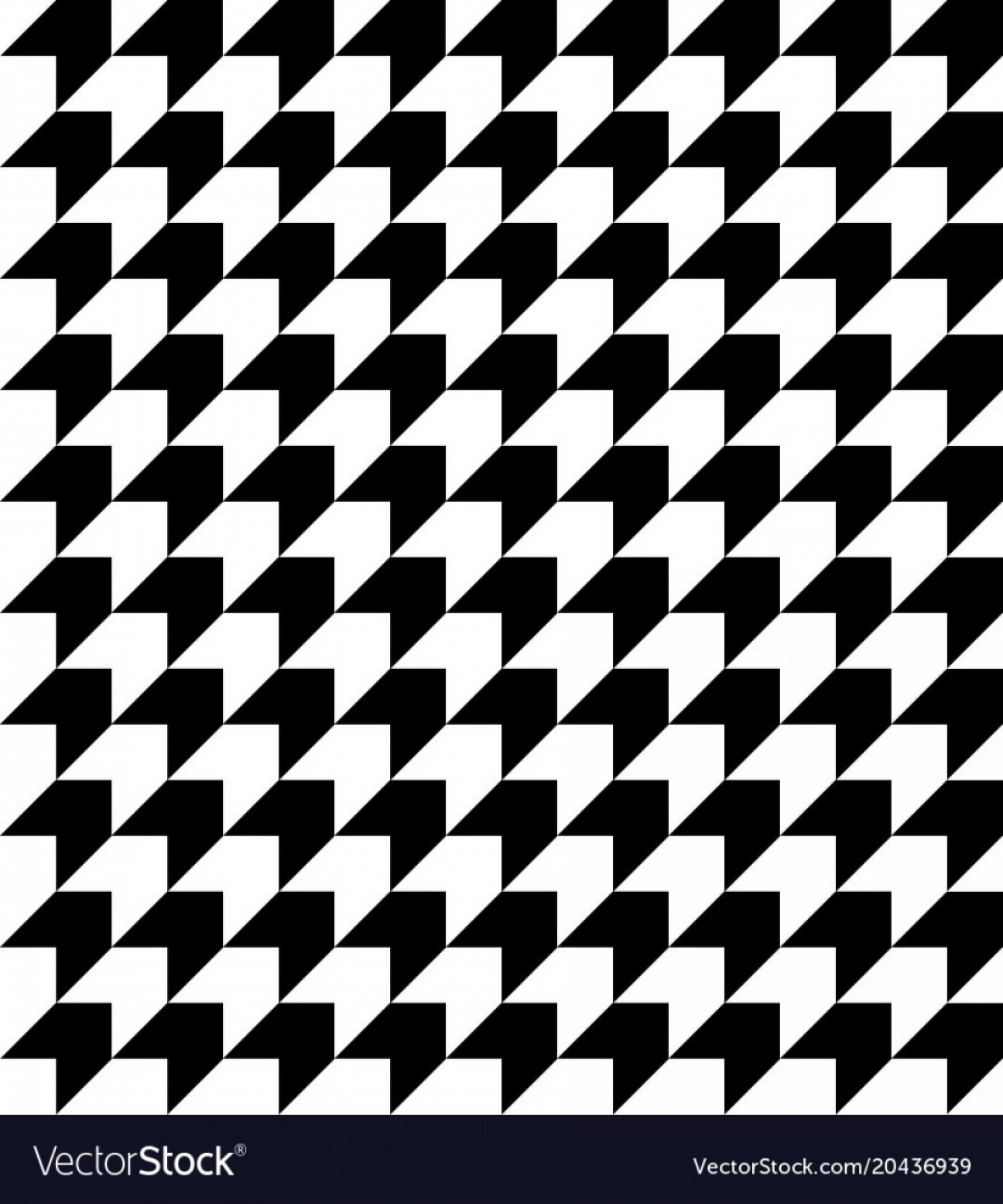 Houndstooth Vector: Black And White Houndstooth Pattern Vector