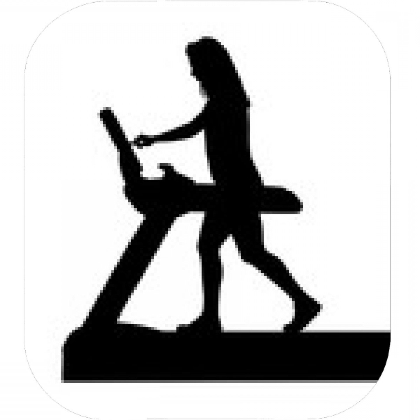 Vector Silhouette Of Girl Running Track: Black And White Image Of Young Woman Doing Exercises On Elliptical Trainer
