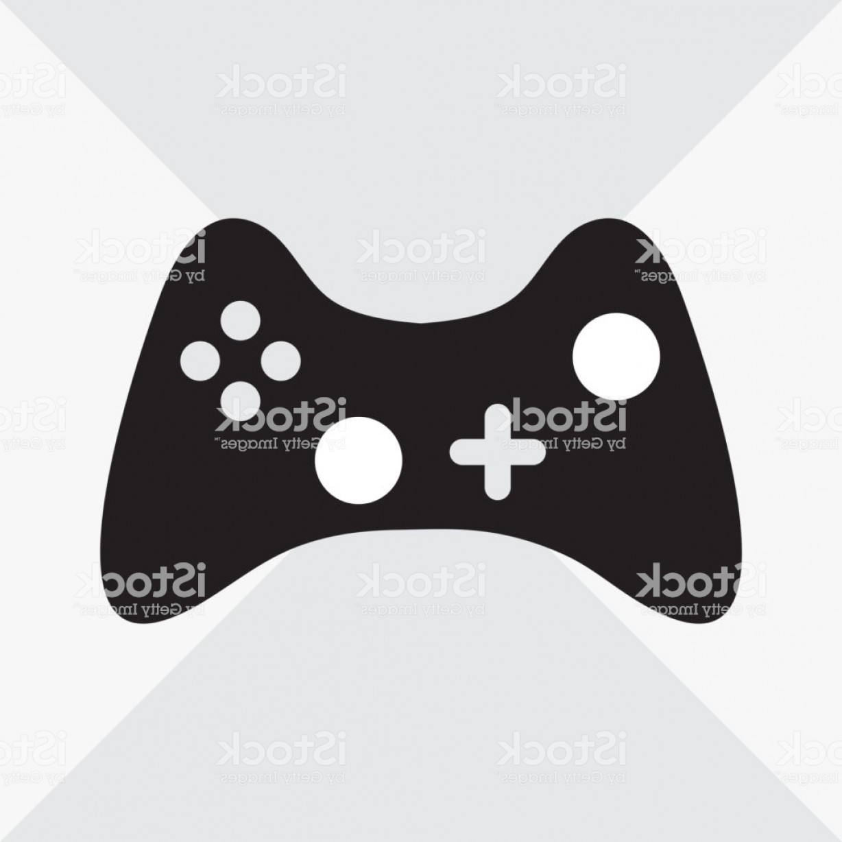 Xbox Game Controller Vector: Black And White Joystick For Computer Games Flat Icon Vector Illustration Gm