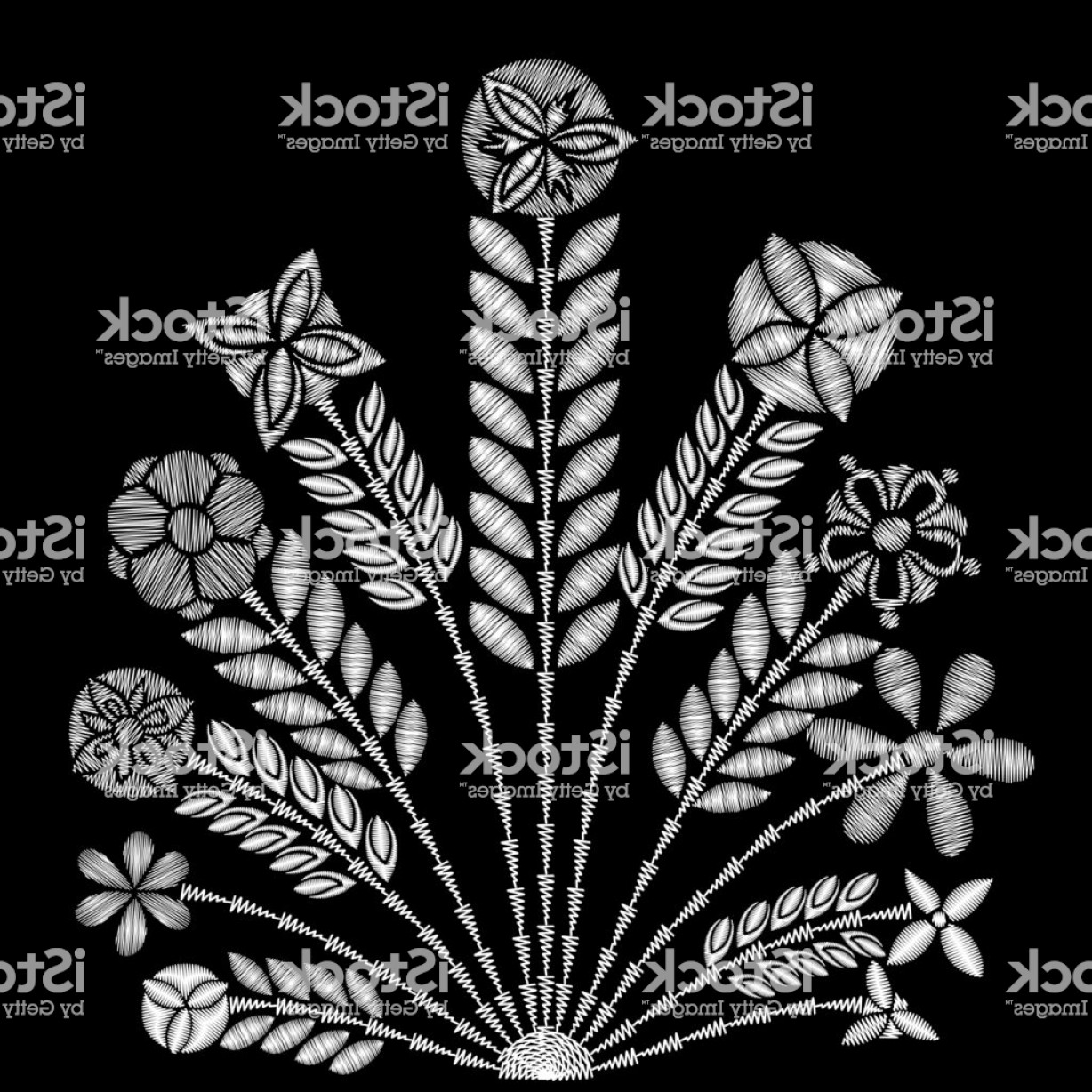 White Lace Vector: Black And White Lace Vector Design Contemporary Lace Background Ornamental Flowers Gm