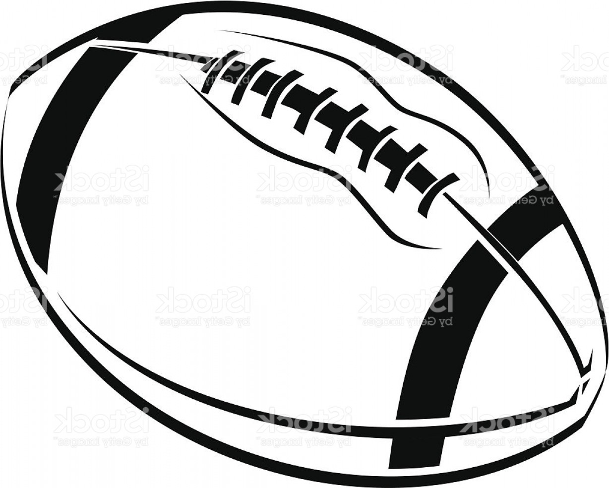 Black And White Vector American Football: Black And White Line Art Drawing Of An American Football Gm