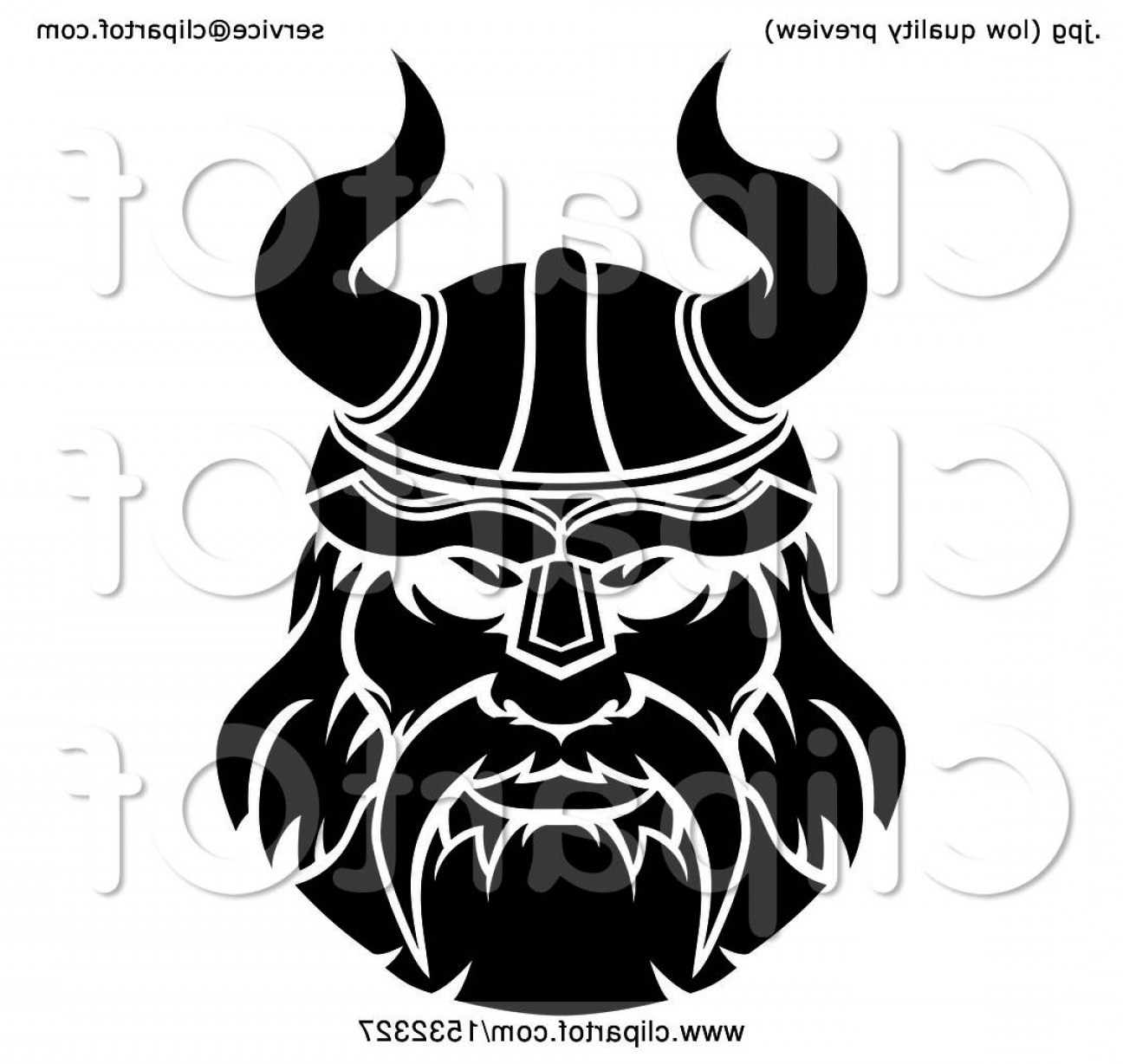 James Bond Vector Ai File: Black And White Male Viking Warrior Face