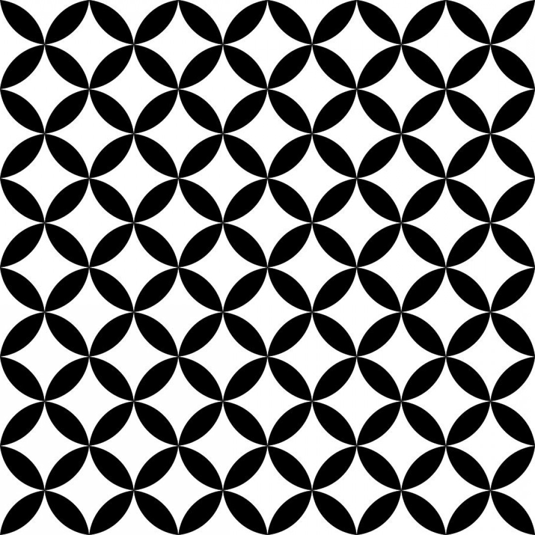 Vector Group Of Hands Overlapped: Black And White Overlapping Circles Abstract Retro Design Seamless Pattern Simple Vector Geometrical Background Petr Polak