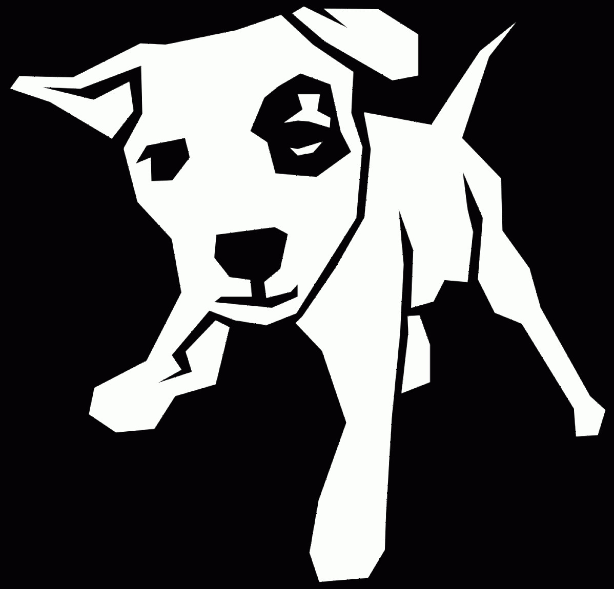 Dog Bone Vector Graphics: Black And White Picture Of A Dog
