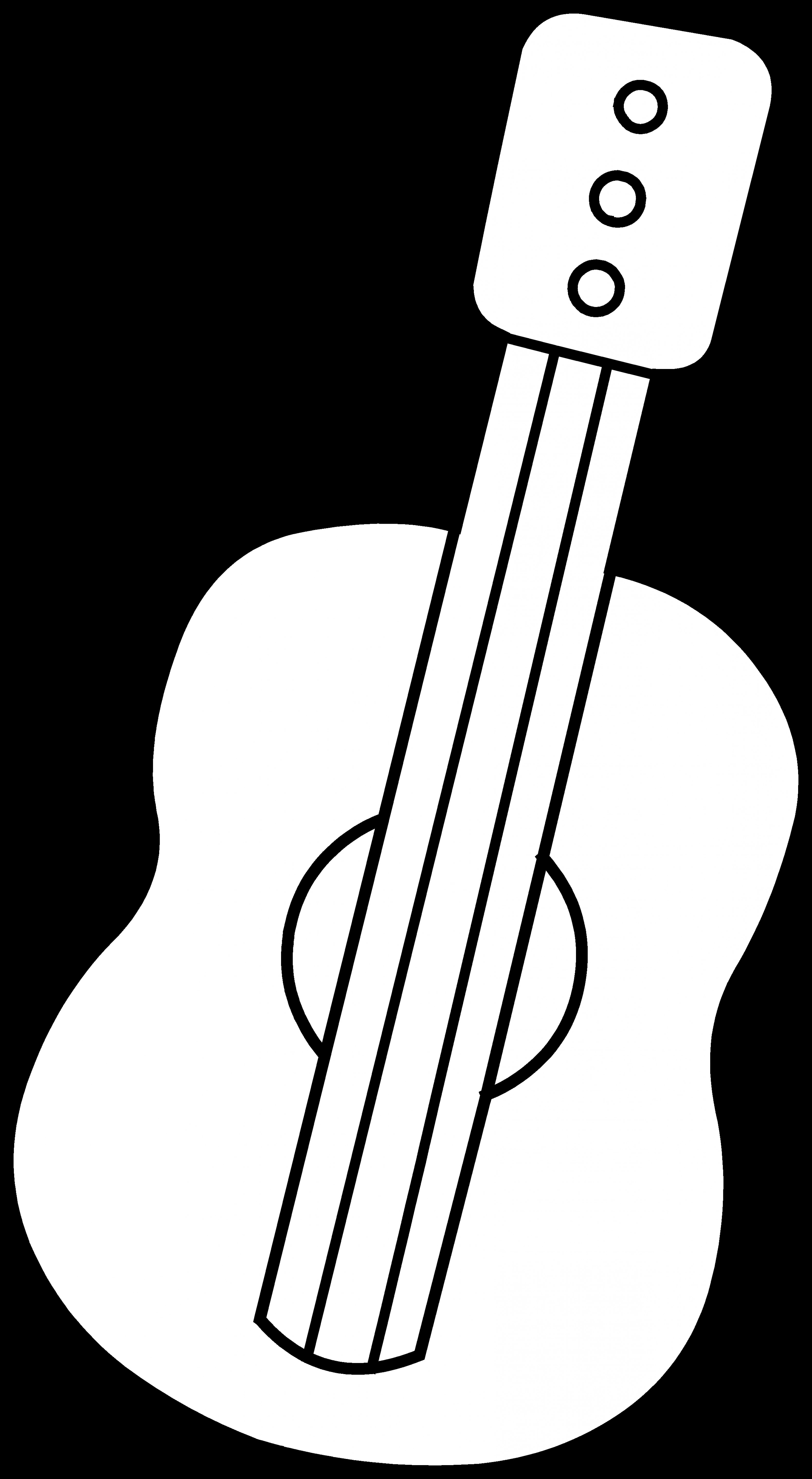 Vector Guitar Clip Art Black And White: Black And White Pictures Of Guitars