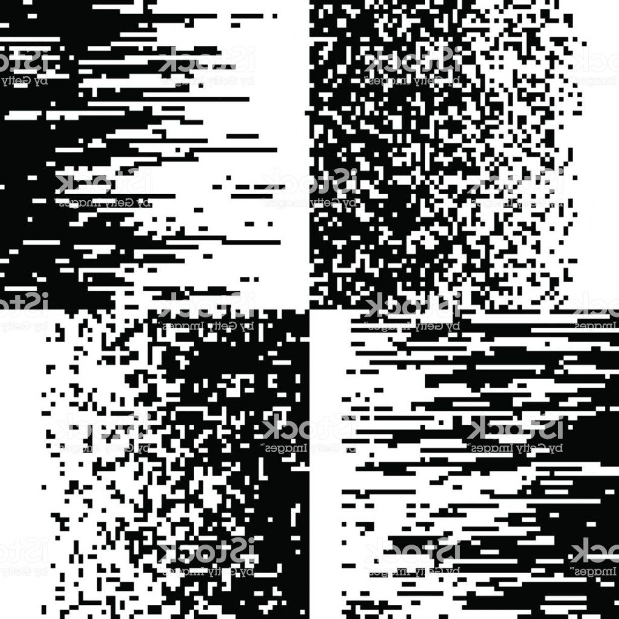 Pixelation Photoshop Vector: Black And White Pixelation Pixel Gradient Mosaic Pixelated Vector Backgrounds Gm