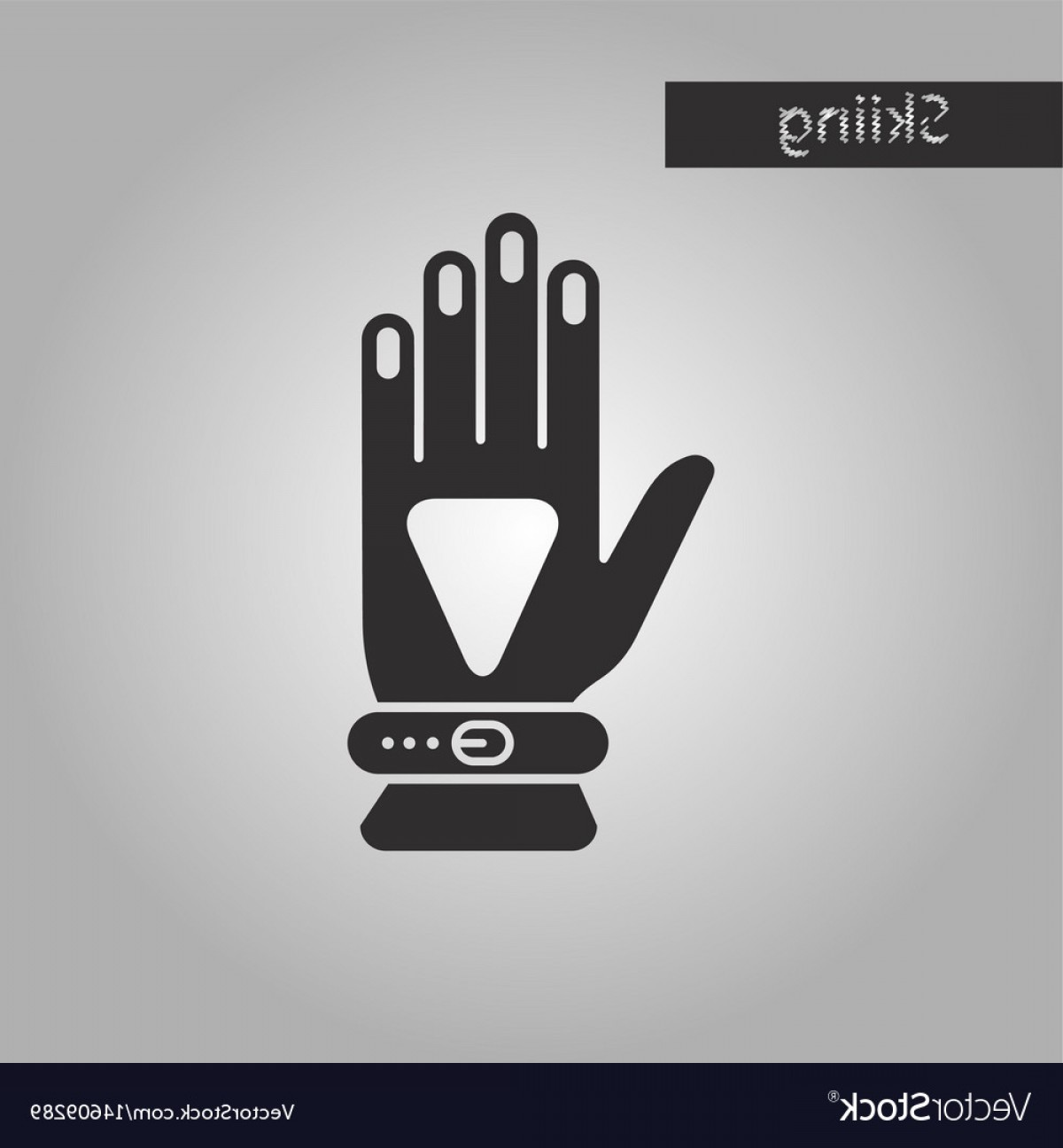 White Glove Service Vector: Black And White Style Icon Glove Vector