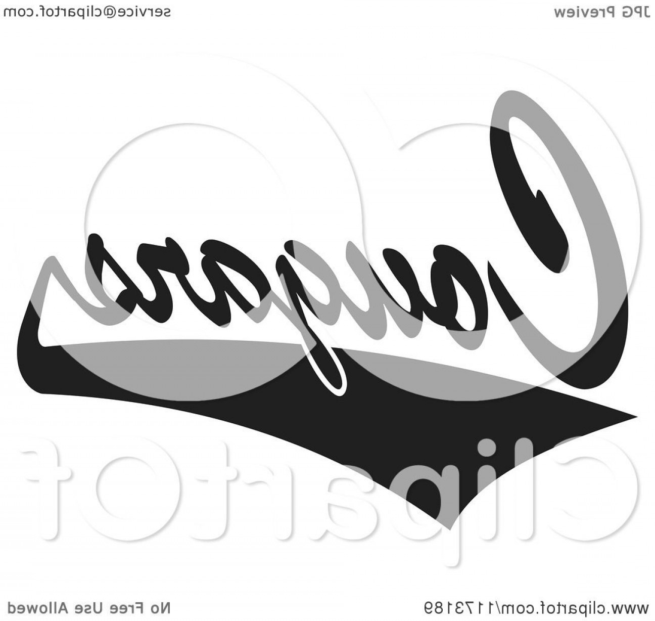Cougar Logo Vector: Black And White Tailsweep And Cougars Sports Team Text