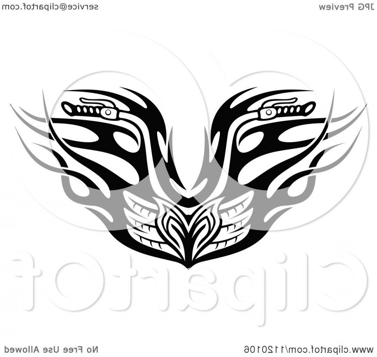 Harley -Davidson Skull Logo Vector: Black And White Tribal Flaming Motorcycle Biker Handlebars