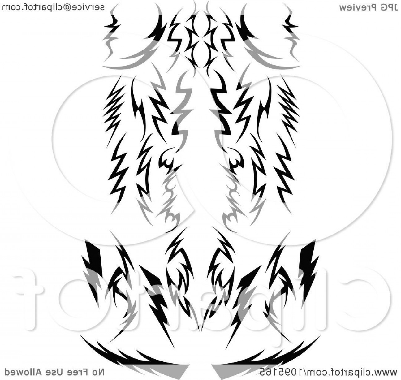 Vector Lightning Bolt Tribe: Black And White Tribal Lightning Bolts Arrows And Designs