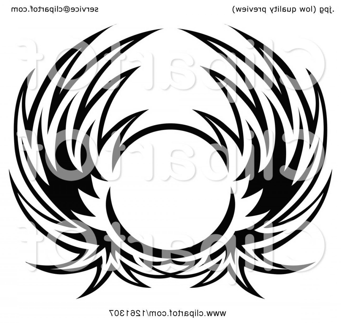Vector Hi Res Black And White Wing: Black And White Wing Shield