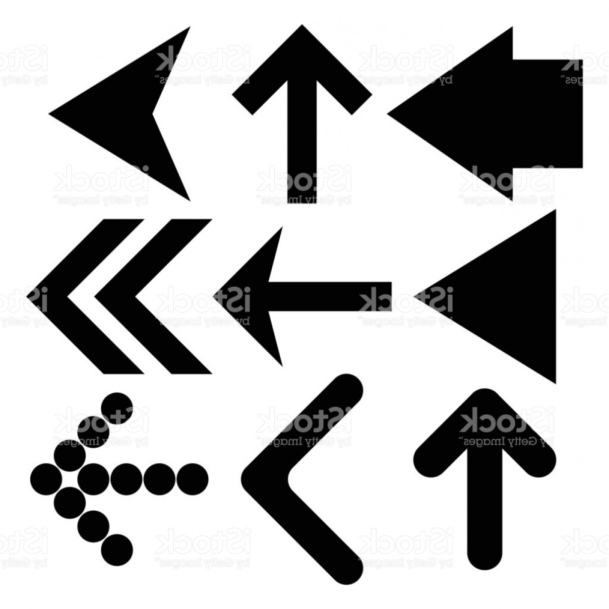 Up And Right Arrows Vector: Black Arrows Set Up And Right Direction Gm