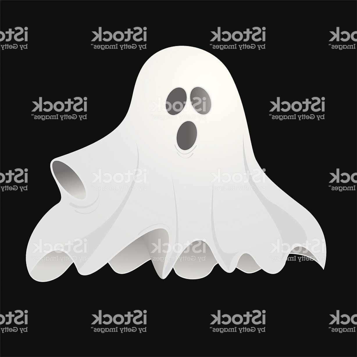 Ghost Vector Black: Black Background And A White Spooky Ghost Gm