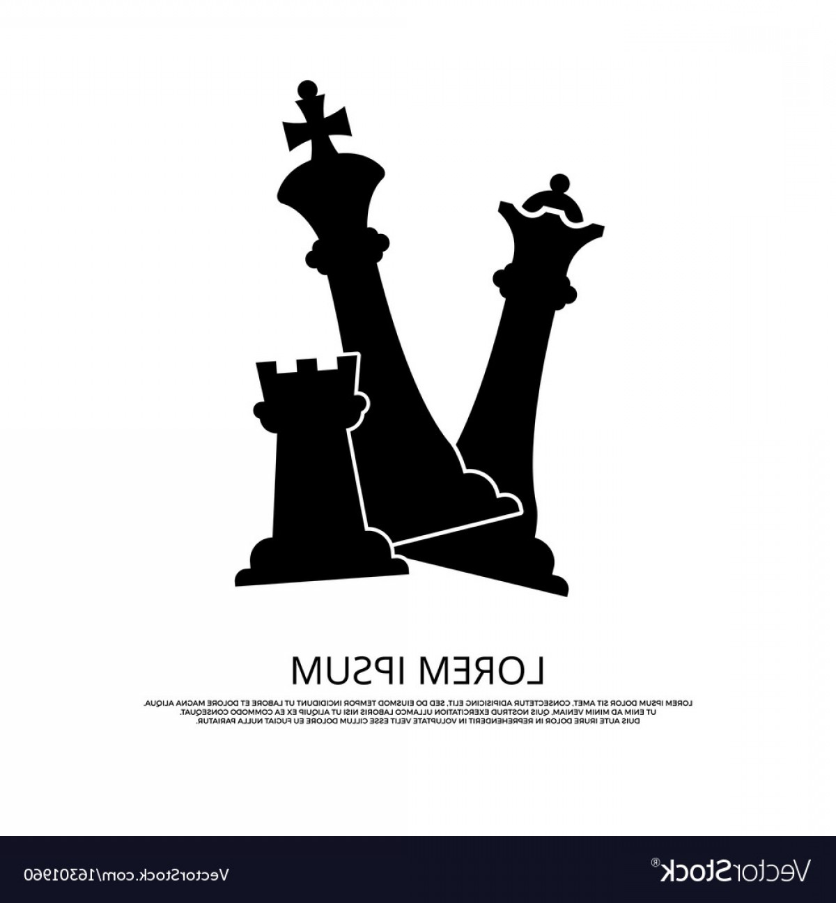 Chess Vector Background: Black Chess Pieces Icon Background With Chess Vector