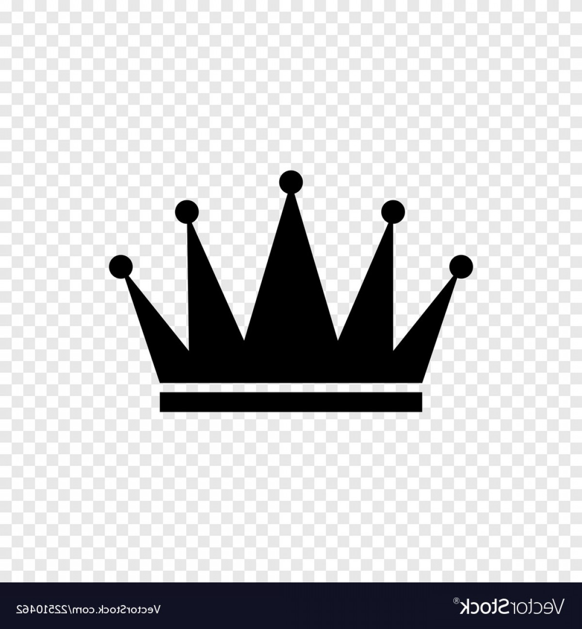 Transparent Queen Crown Vector: Black Crown Icon On Transparent Background Vector