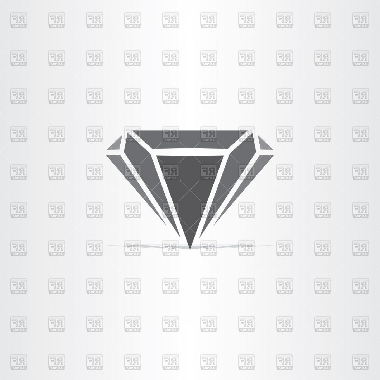 Black Diamond Vector Clip Art: Black Diamond Stylized Icon Vector Clipart