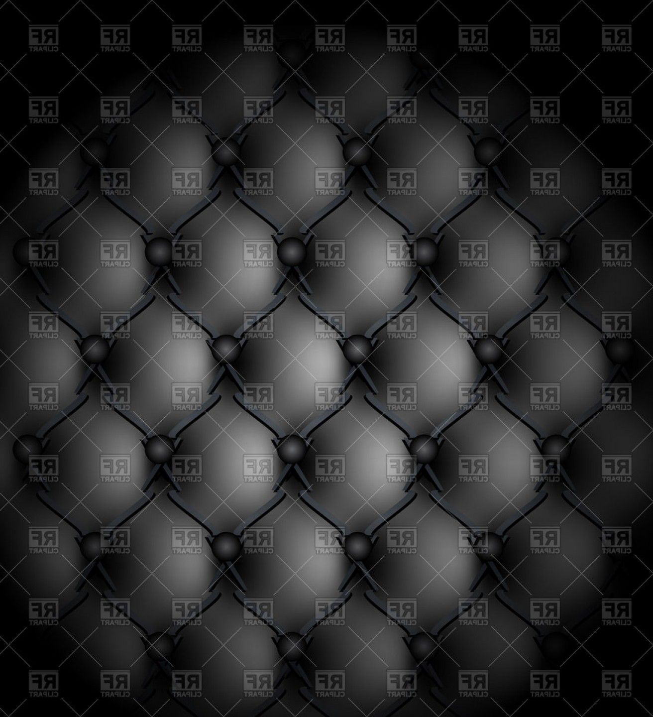 Vector Seamless Leather Pattern: Black Genuine Leather Seamless Pattern Vector Clipart