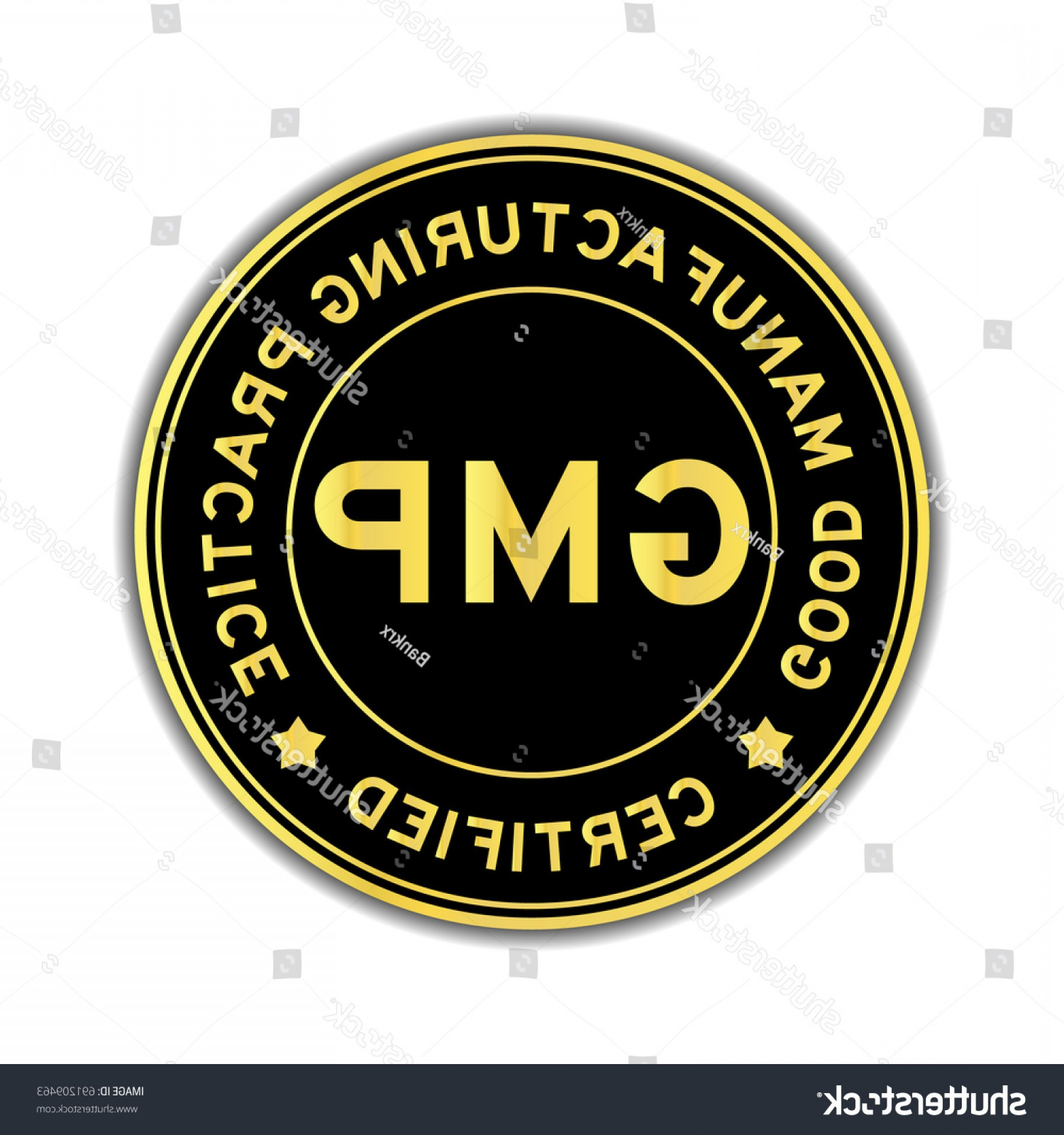 GMP Logo Vector: Black Gold Color Gmp Good Manufacturing