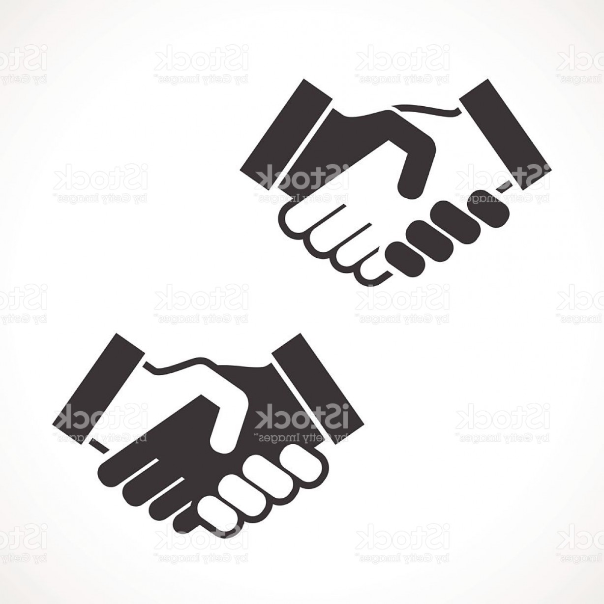 Handshake Vector Art: Black Handshake Vector Icon Gm