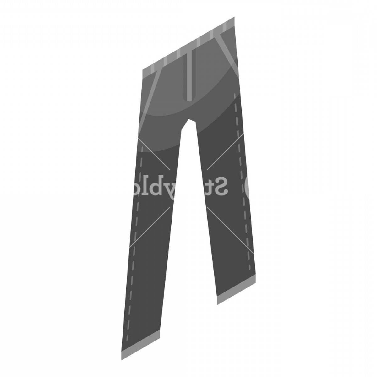 Vector Black Jeans: Black Jeans Pant Icon Isometric Of Black Jeans Pant Vector Icon For Web Design Isolated On White Background Bm Wrunjppwz
