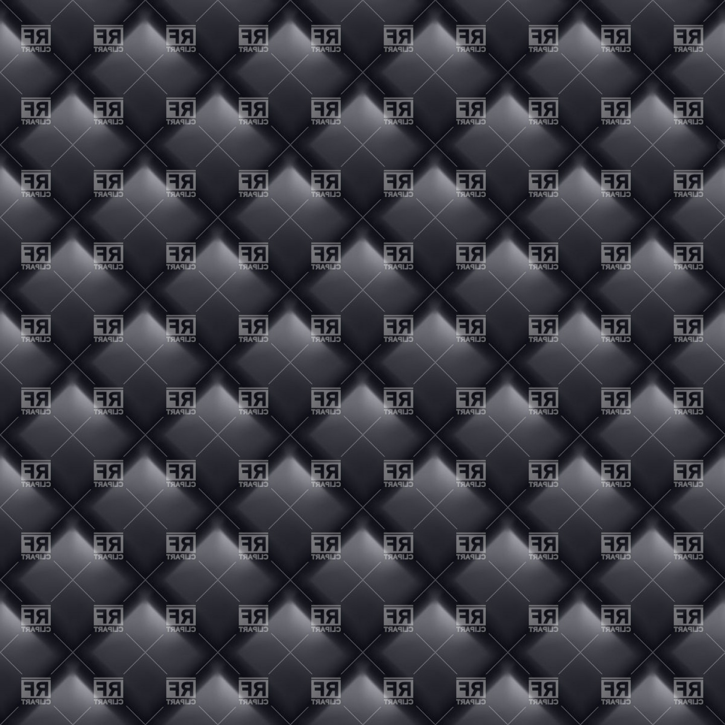 Vector Seamless Leather Pattern: Black Leather Seamless Upholstery Texture Vector Clipart
