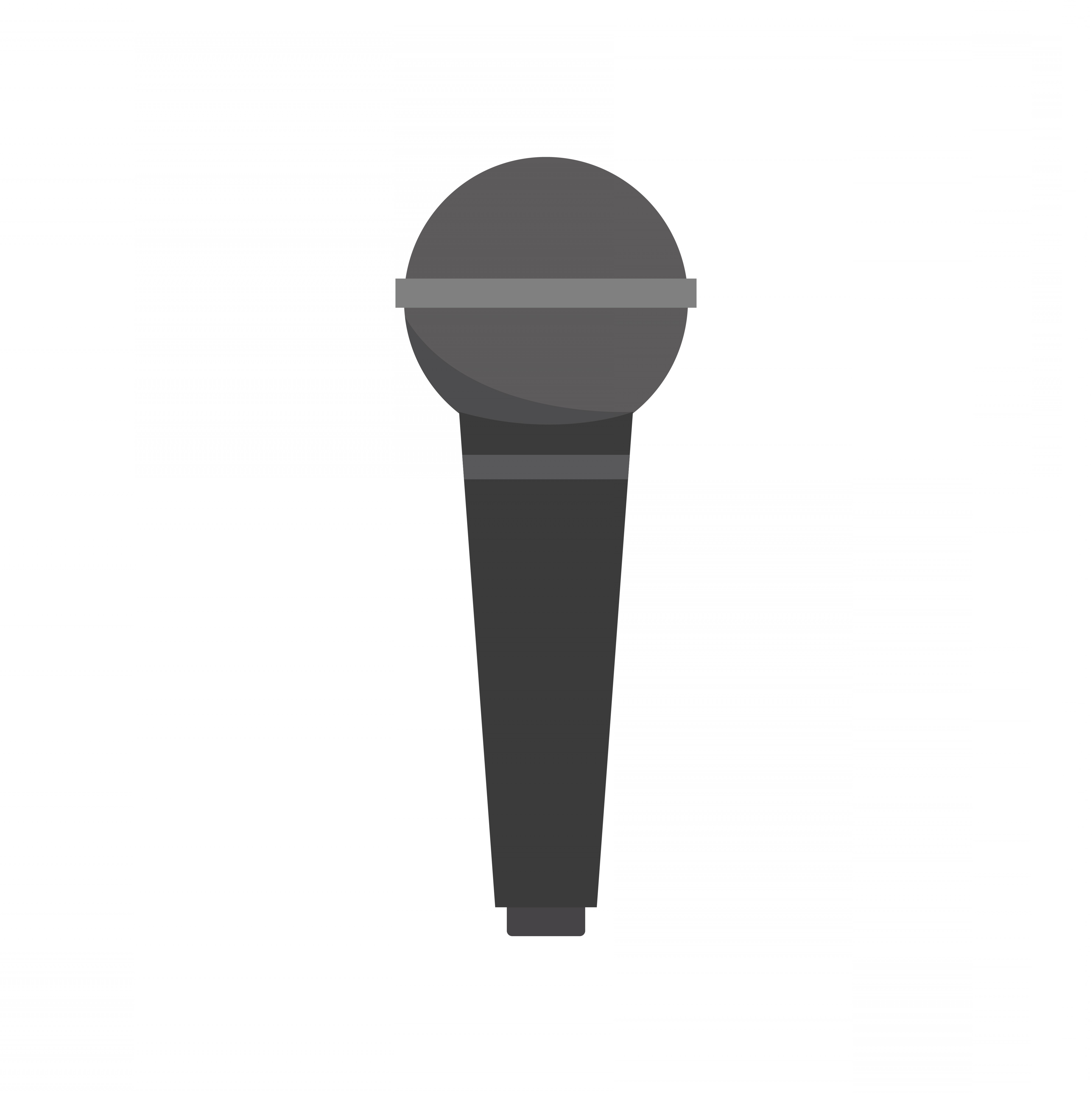 Mics Vector Designs: Black Microphone Isolated Graphic Illustration