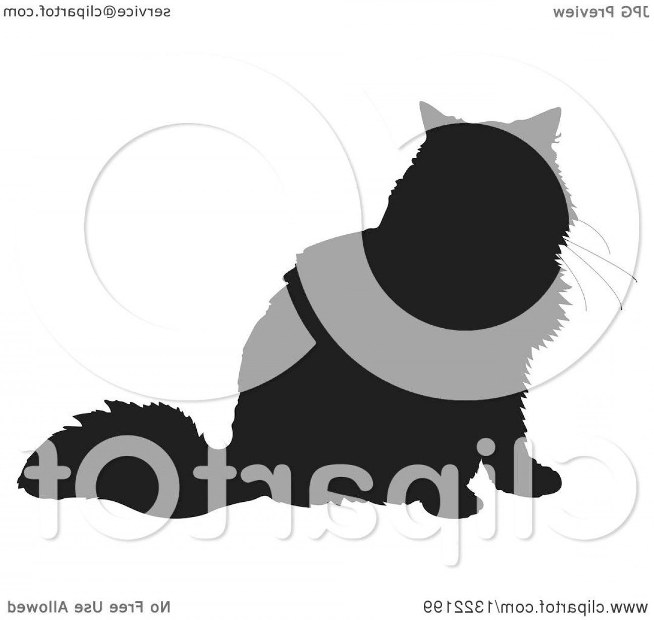 Vector Cats 3: Black Sitting Cat Silhouette