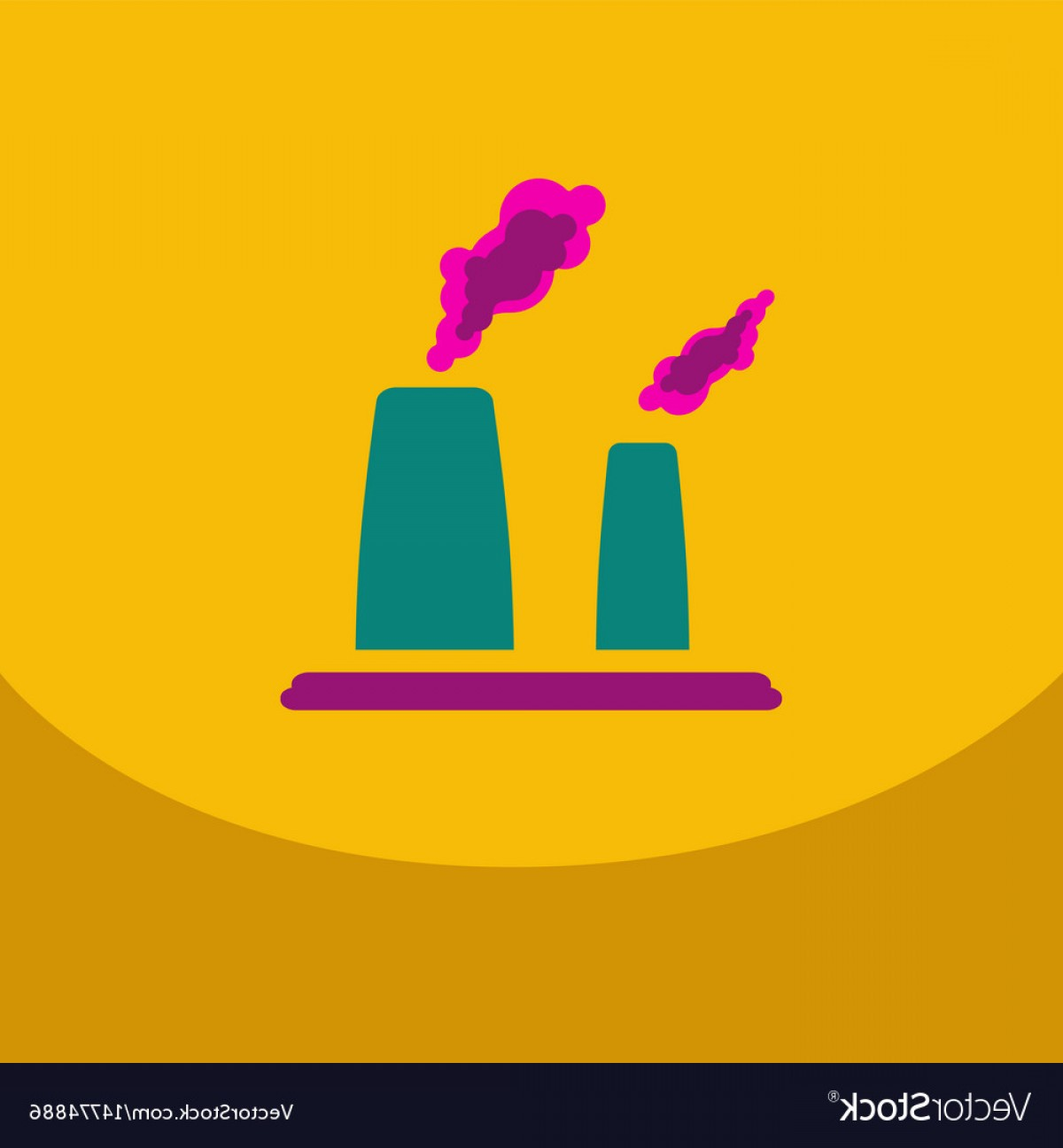 Vector Smokestack: Black Smoke Floating From Multiple Smokestack With Vector