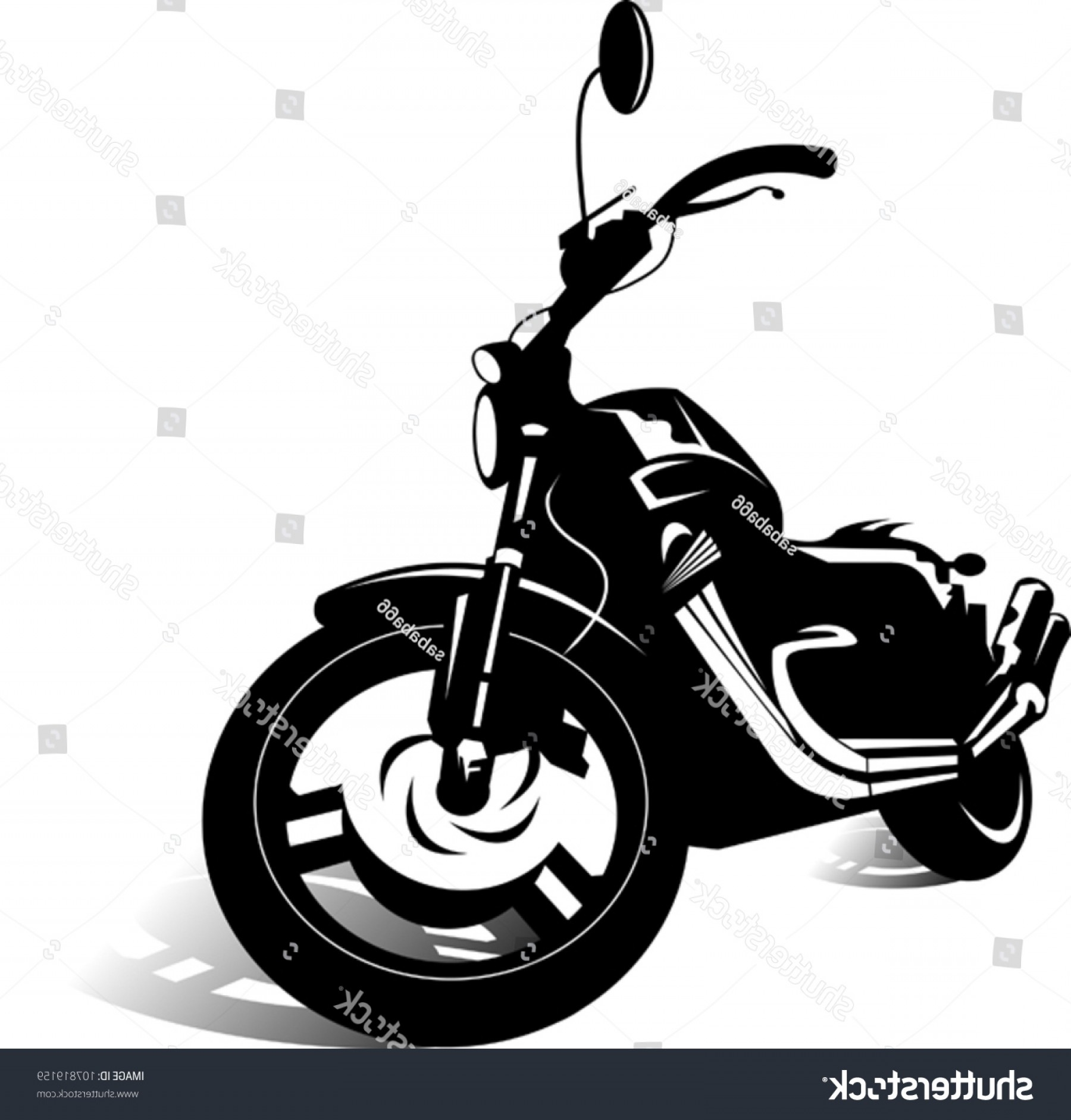 Dirt Bike Gas Can Vector: Black Sports Bike Vector Illustration
