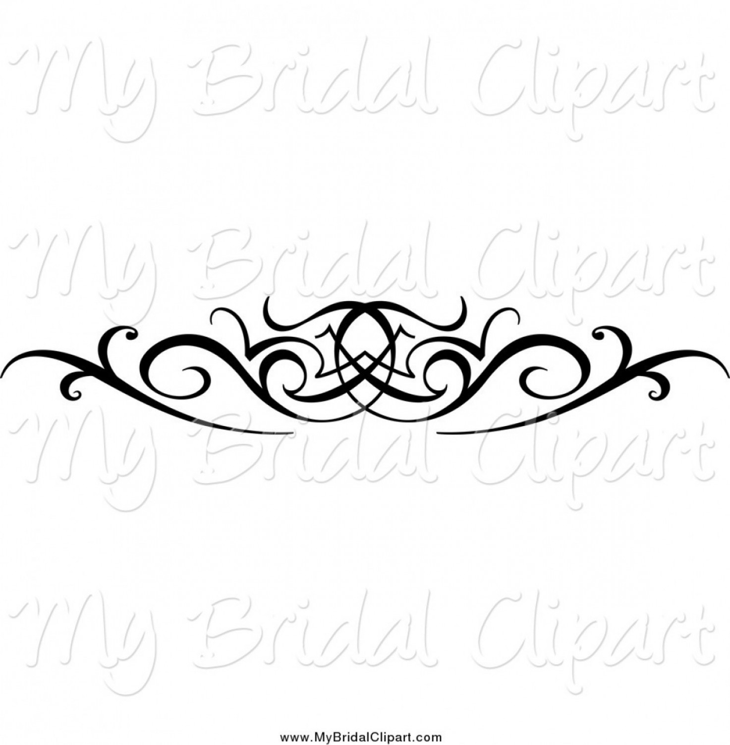 Gold Wedding Swirl Vector: Black Swirl Design Clip Art Free Bridal Clipart Of A Black And White Swirl Wedding Design Element By Vector Tradition Sm