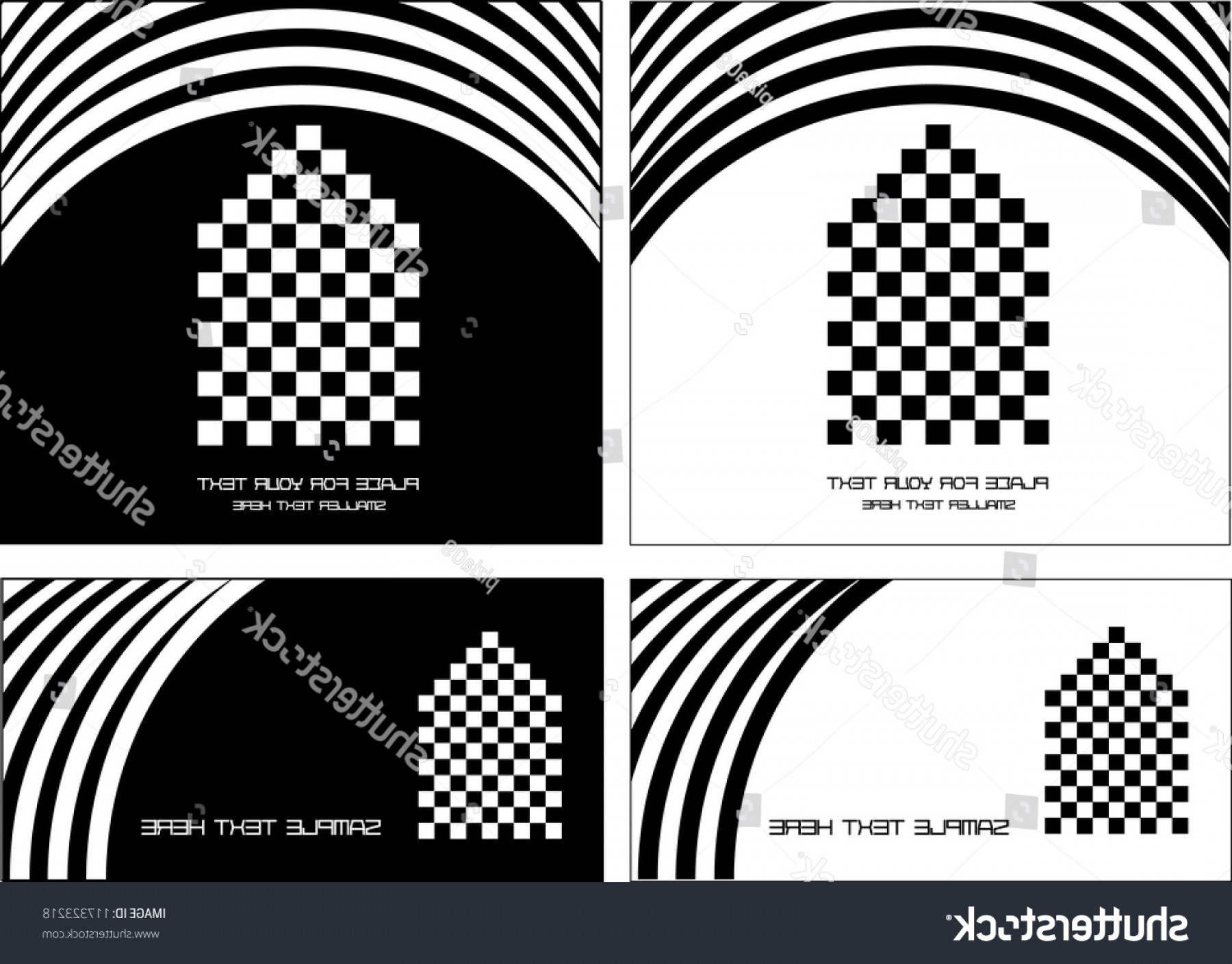 Black And White Negative Vector: Black White Advertising Concept House Icons