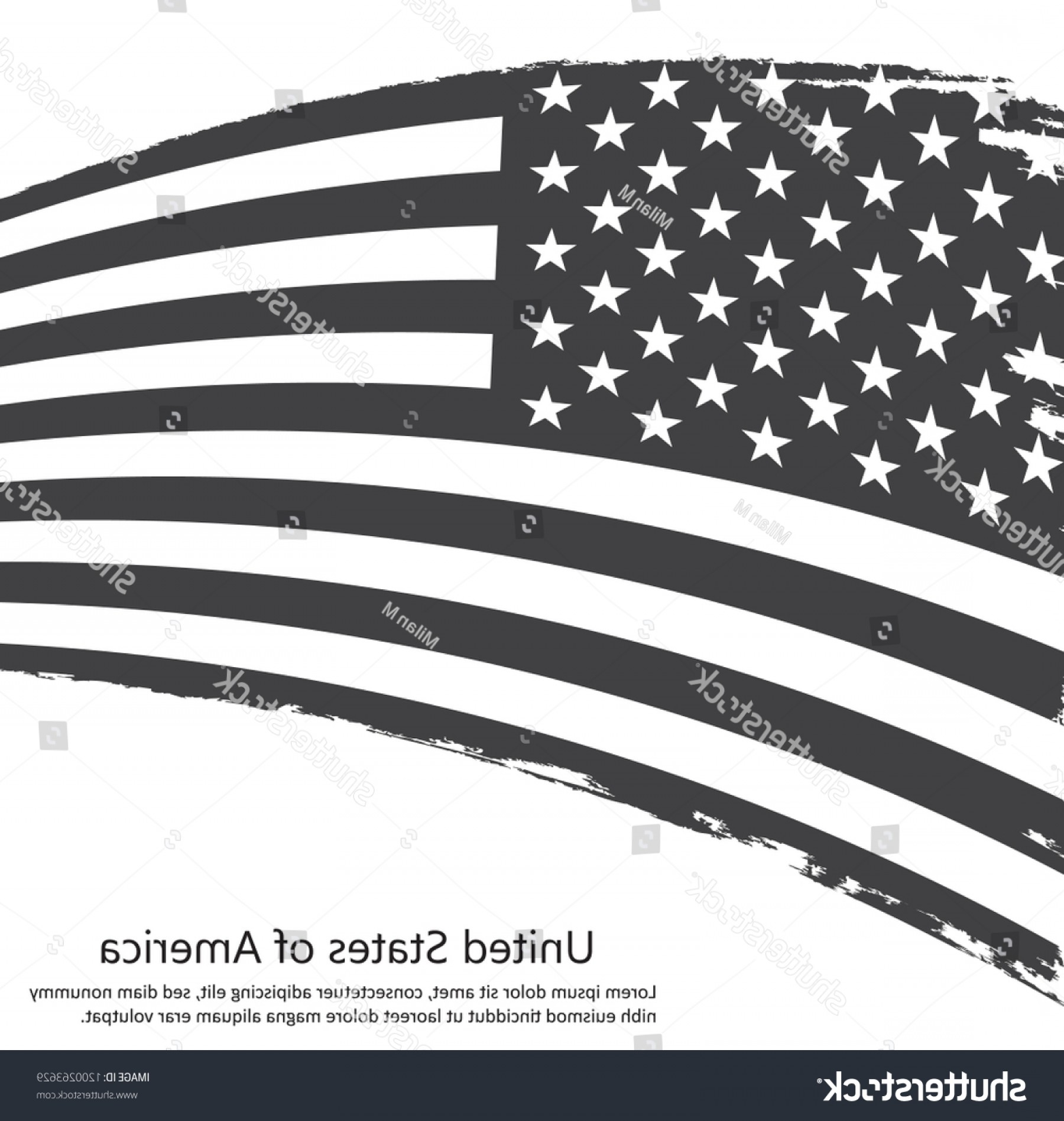 Thin Red Line Distressed Flag Vector: Black White American Flagvector Grunge Flag