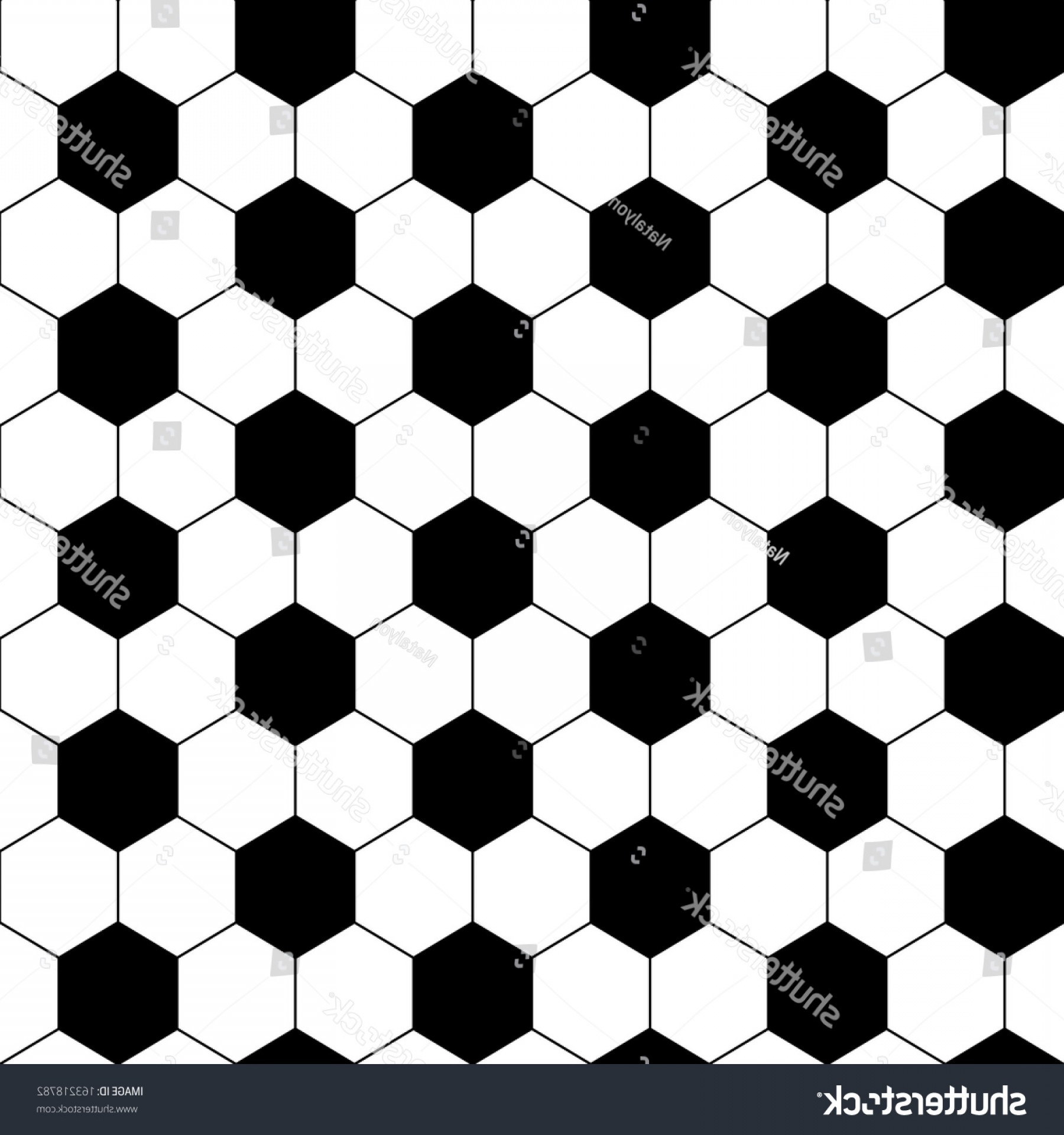 Vector Soccer Ball Pattern: Black White Hexagon Soccer Ball Seamless