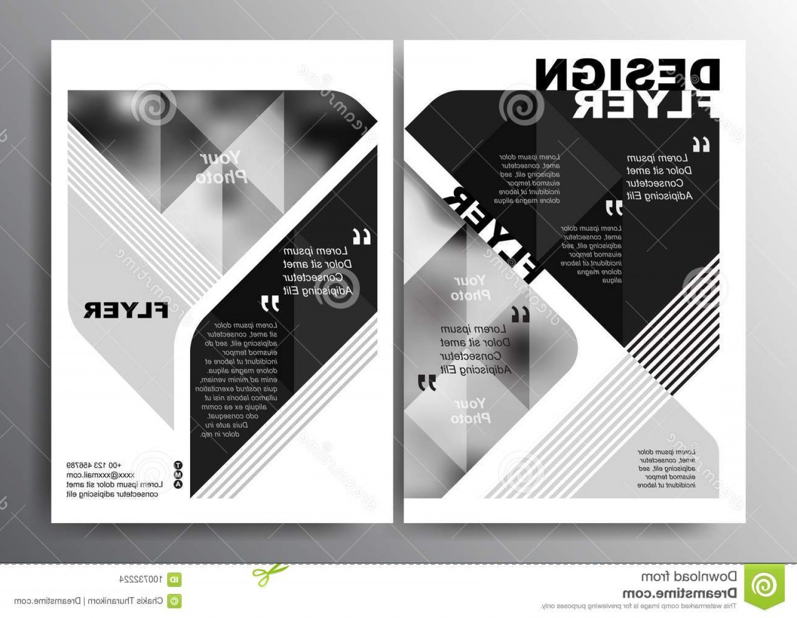 Black And White Flyer Vectors: Black White Minimal Modern Poster Brochure Flyer Design Layout Vector Template Size Black White Minimal Modern Poster Image