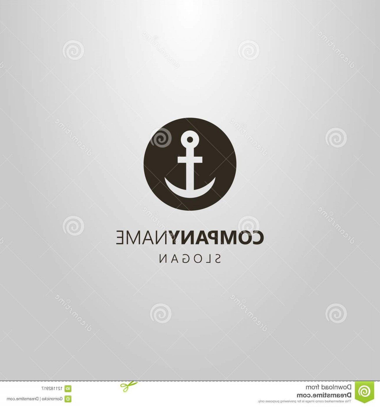 Black And White Negative Vector: Black White Negative Space Round Simple Vector Anchor Logo Negative Space Round Simple Vector Anchor Logo Image