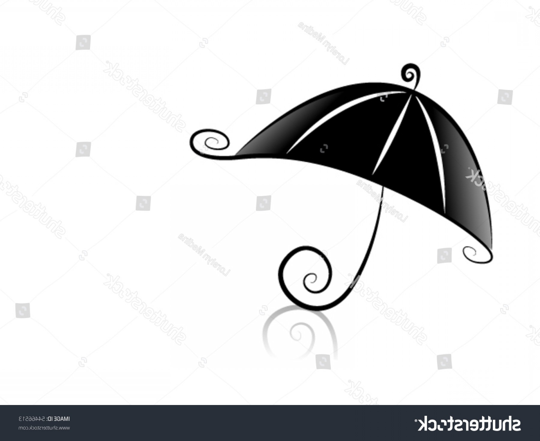 Umbrella Vector Black: Black White Series Umbrella Vector
