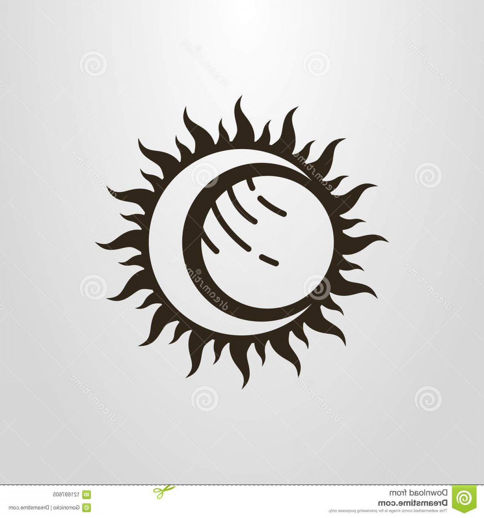 Whitew Eclipse Vector: Black White Simple Vector Symbol Sun Moon Planet Eclipse Simple Vector Symbol Sun Moon Planet Eclipse Image