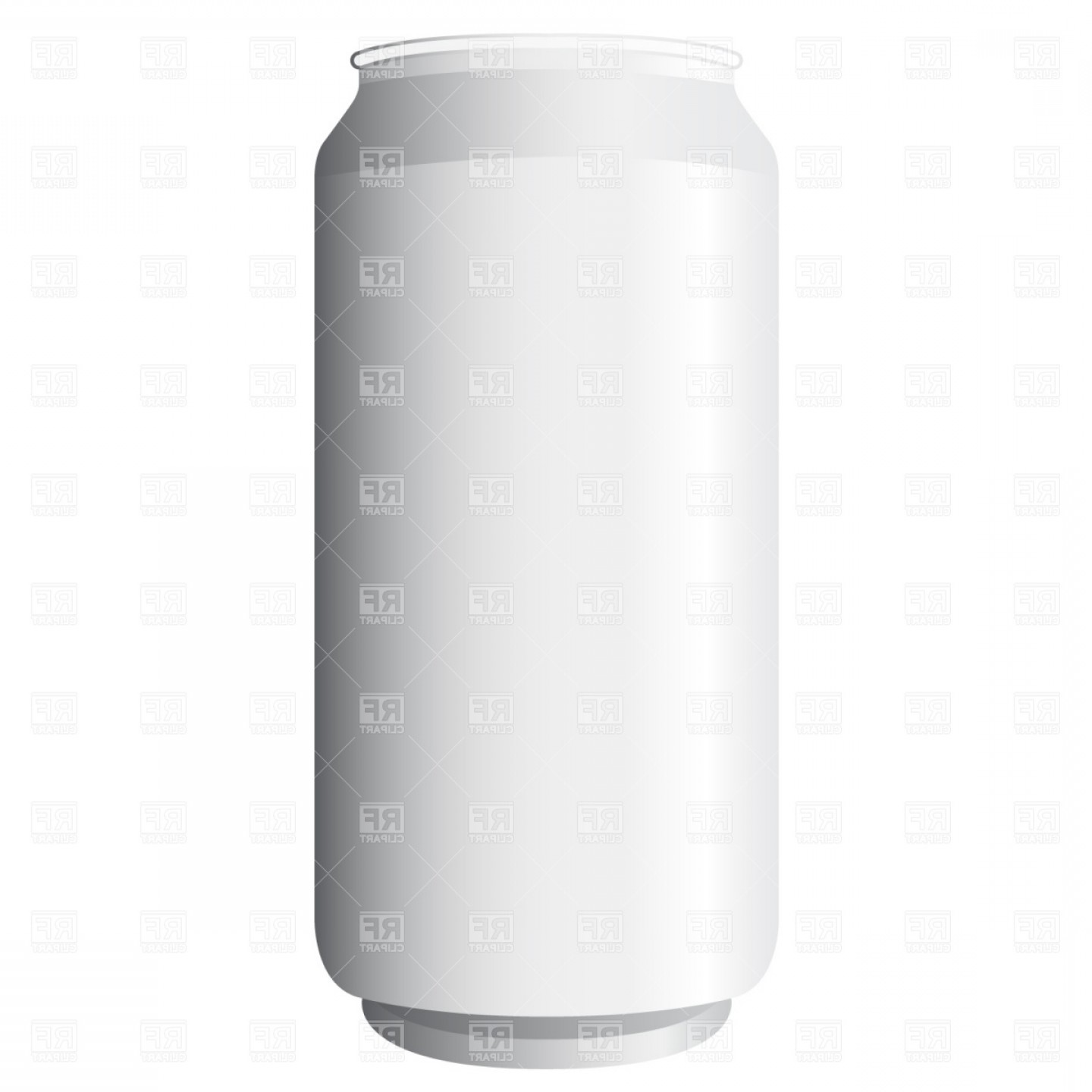 Can Vector: Blank Beer Can Vector Clipart