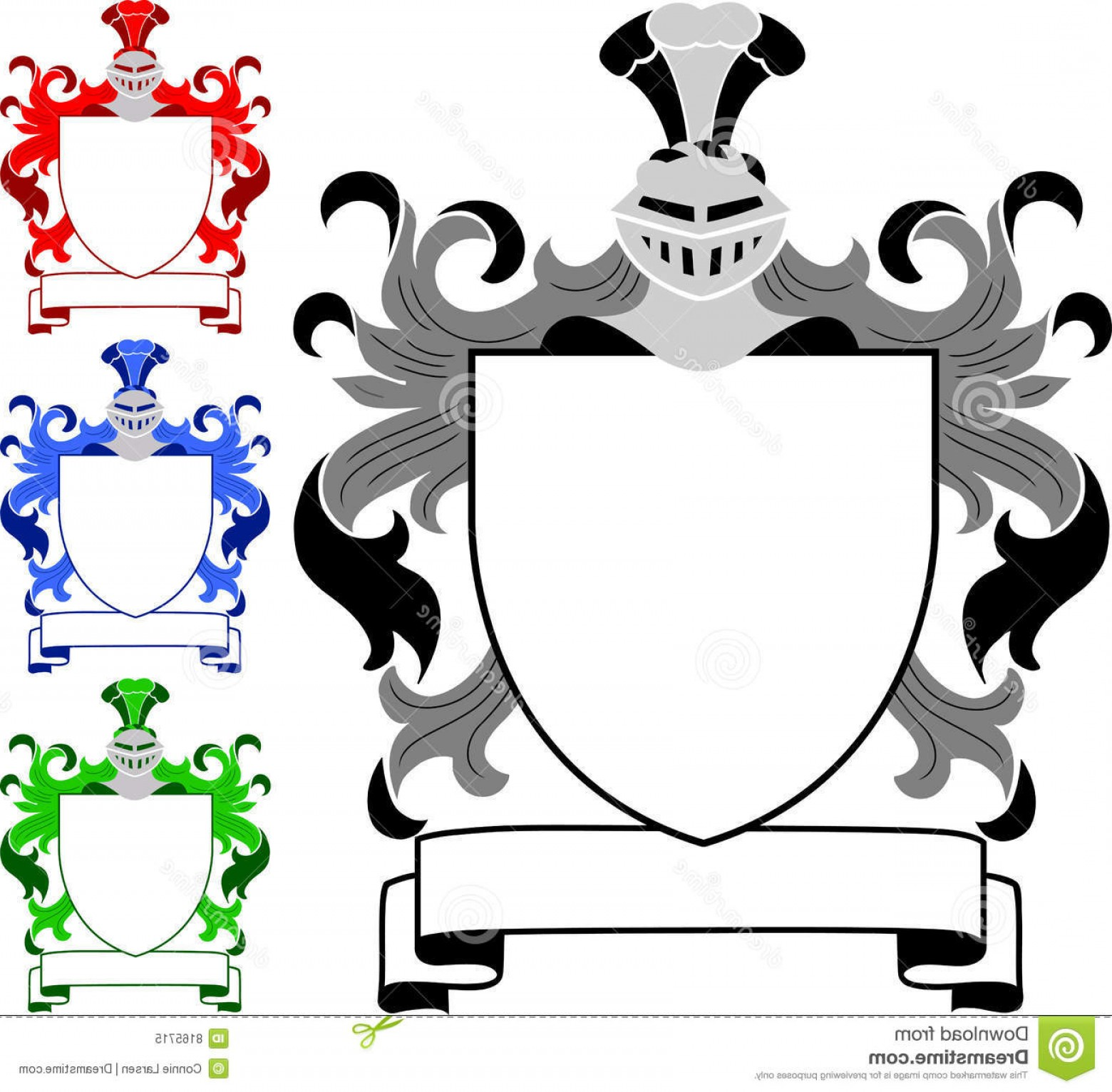 Crest And Coat Of Arms Vector Silhouette: Blank Coat Of Arms Clipart