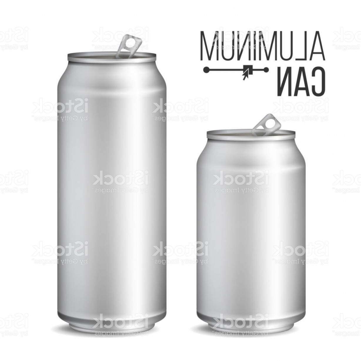 Can Vector: Blank Metallic Can Vector Silver Can D Packaging Mock Up Metallic Cans For Beer Or Gm