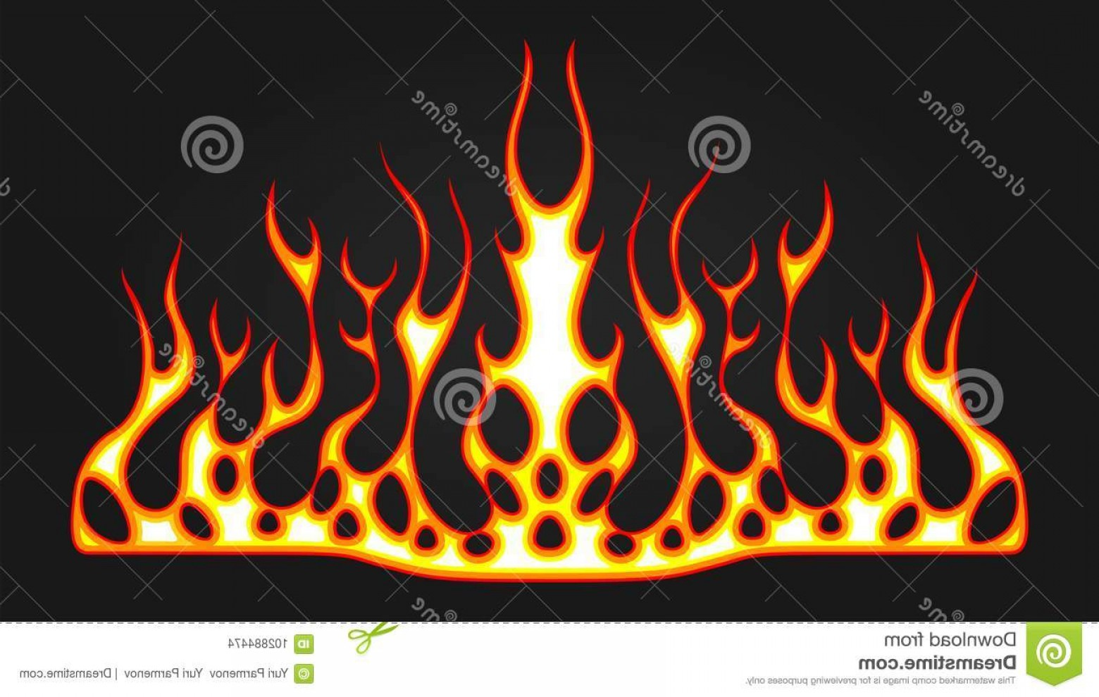 Tribal Flames Vector Car: Blazing Fire Decals Hood Car Hot Rod Racing Flames Vinyl Ready Tribal Flames Vehicle Motorbike Stickers Image