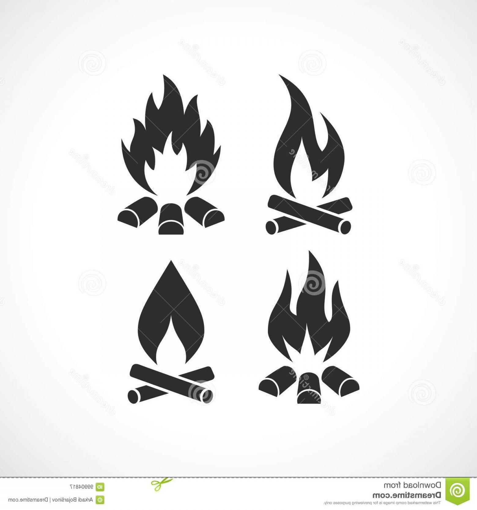 Flame Vector Icon: Blazing Fires Flames Vector Icons Set Blazing Fire Flame Vector Icon Image