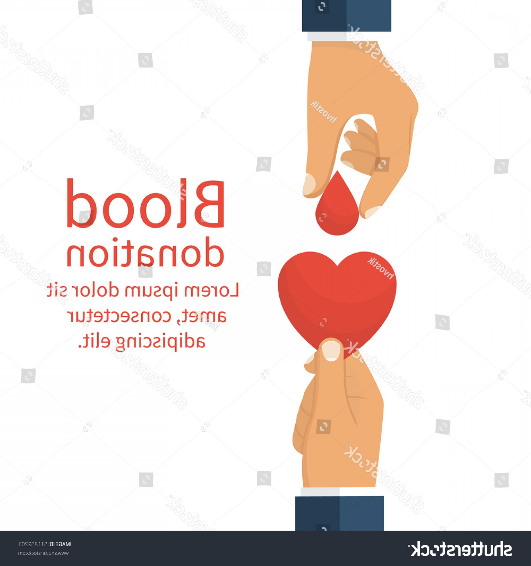 Charity Meter Vector: Blood Donation Concept Drop Hold Hand