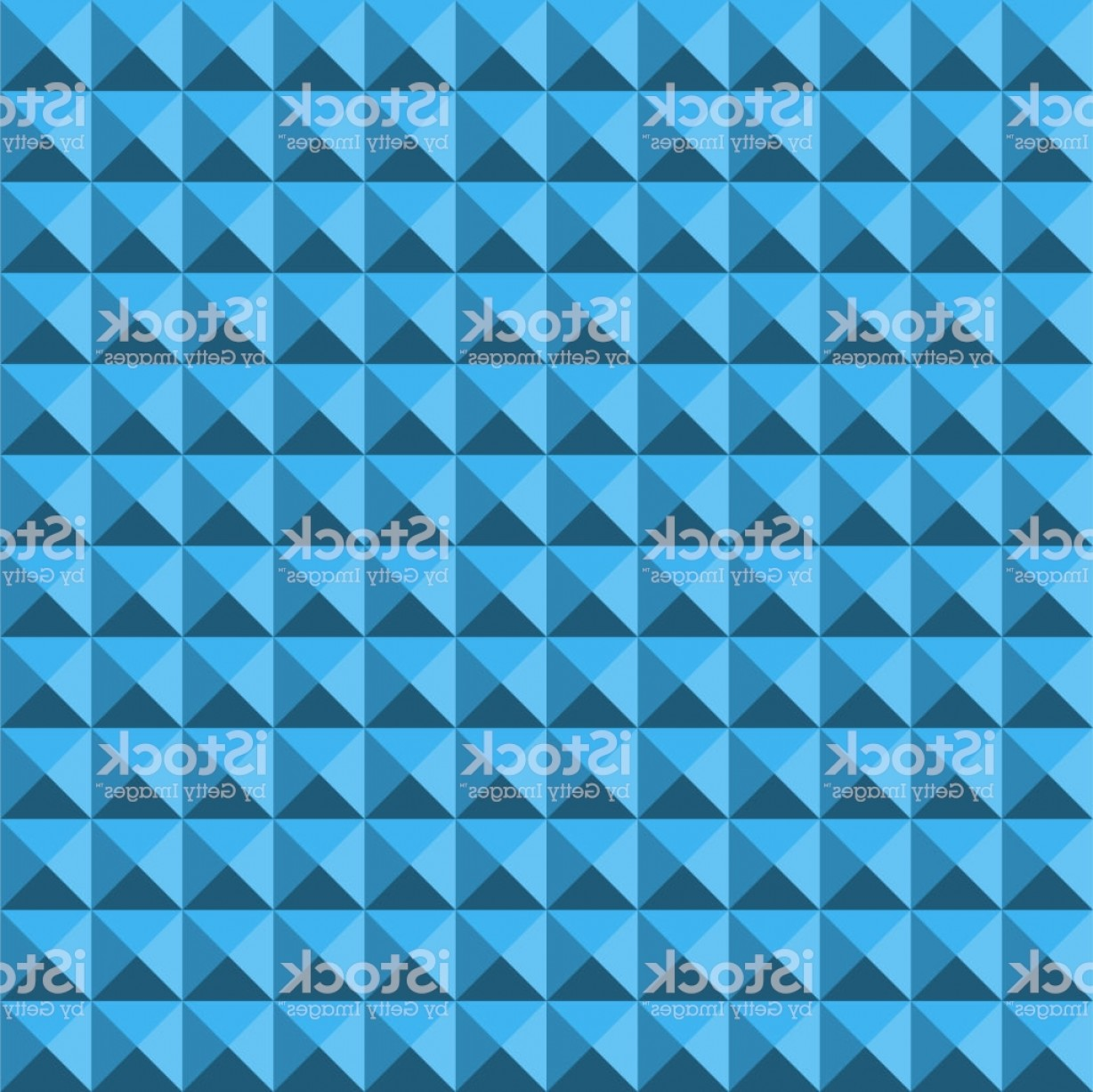 Pyramid Stud Vector: Blue Abstract Relief Pyramid Texture Seamless Pattern Gm