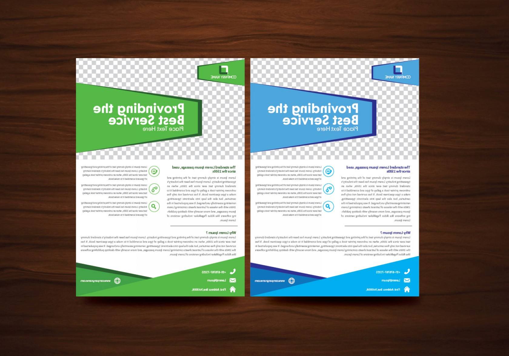 Vector Brochure Cover Designs: Blue And Green Vector Brochure Flyer Design Vector