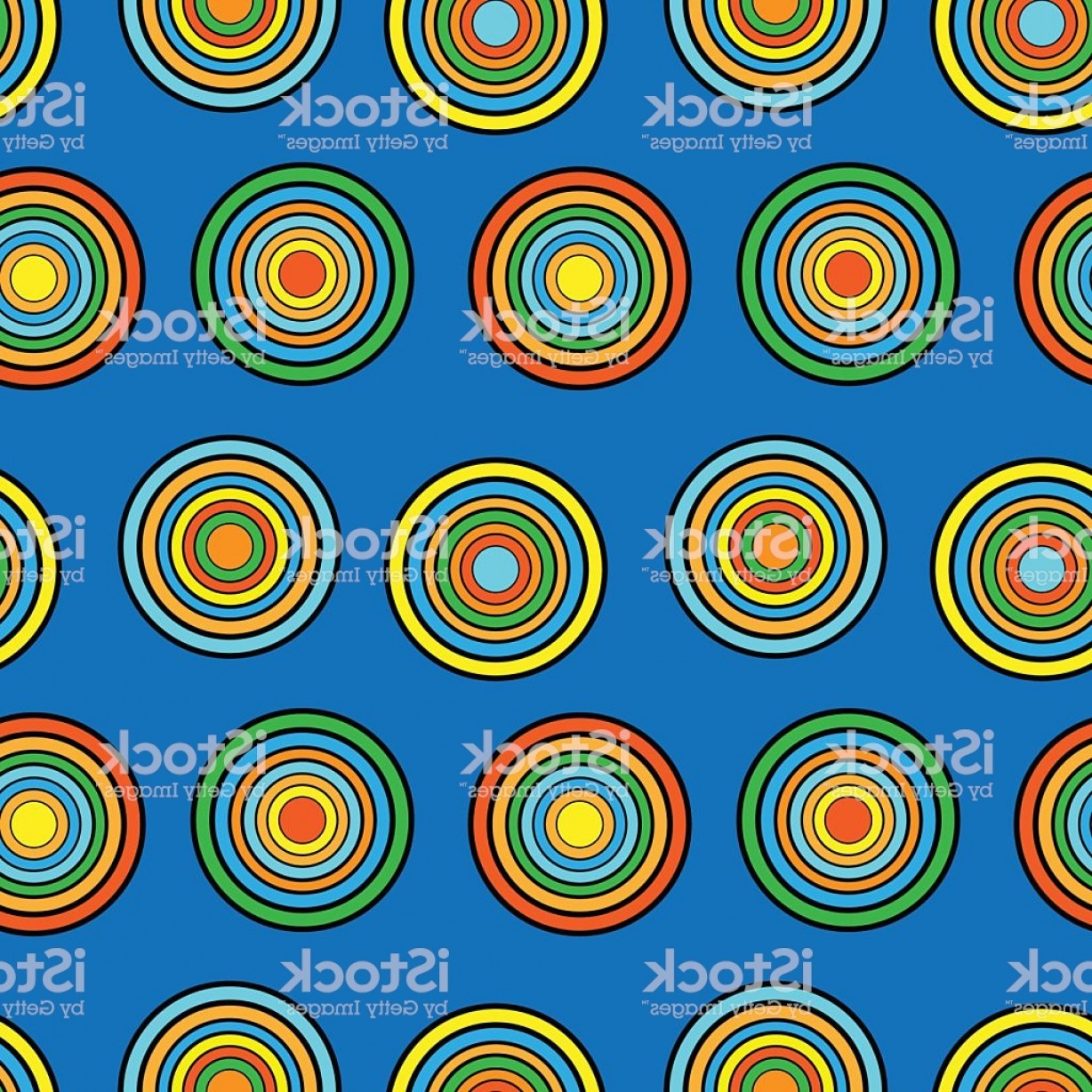 Blue And Orange Circle Vector: Blue And Orange Circles Seamless Vector Pattern Gm